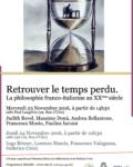 Retrouver le temps perdu  : La philosophie franco-italienne au XXème siècle